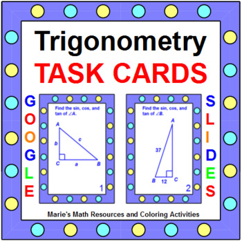 Trigonometry - TASK Cards (a set of 24 cards)
