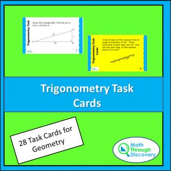 Geometry:  Trigonometry Task Cards