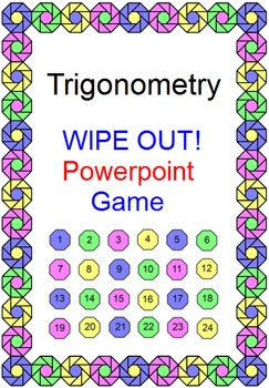 Trigonometry - WIPE OUT! Powerpoint Game 3 Versions (EASY,