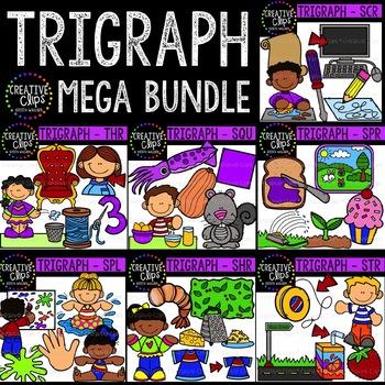 Trigraph Clipart Bundle {Creative Clips Clipart}