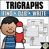 Trigraphs (3 Letter Blends) - Find It, Dab It, Write It!