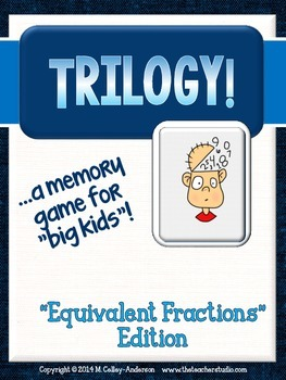 Trilogy Matching Game Equivalent Fractions Edition