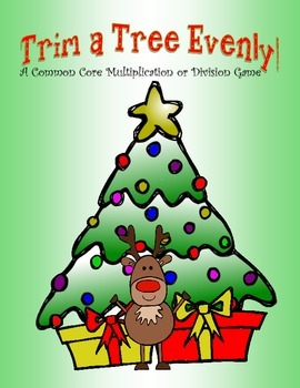 Trim A Tree Evenly: A Common Core Christmas Multiplication