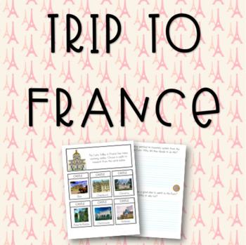 Trip to Paris - France-themed Language Workbook
