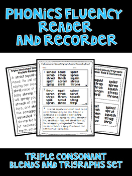 Triple Consonant Blends and Trigraphs - Phonics Fluency As