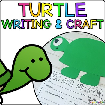 Tristan the Turtle { Animal Craftivity and Writing Prompts! }