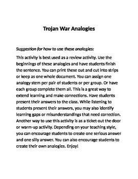 Trojan War Analogies