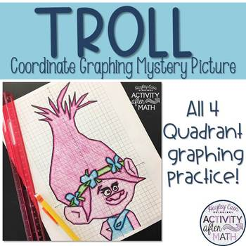 Troll Coordinate Graphing Mystery Picture!
