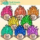 Troll Heads Clip Art - Cute Troll Clip Art - Scrapbooking