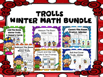 Troll Math Bundle -Winter