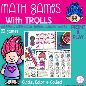 Troll Math Games - Circle, Color & Collect