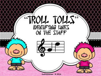 Troll Tolls Lines - (On the Staff) - PDF Edition