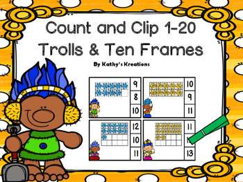 Trolls Count And Clip Ten Frames 1-20
