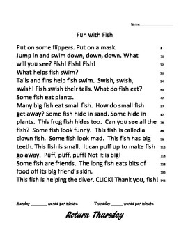Trophies Fun with Fish fluency, phonics and spelling activ