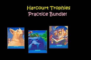 Harcourt Trophies High-Frequency Word Practice Sheets