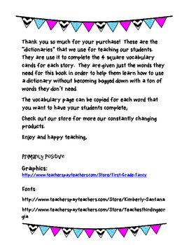 """Trophies High Frequency/Sight Word """"Dictionary"""" and Activi"""