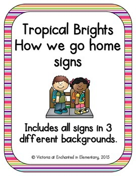Tropical Brights How We Go Home Signs