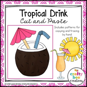 Tropical Drink Cut and Paste