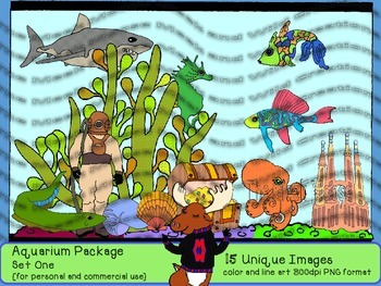 Tropical Fish Aquarium Set One {for personal and commercial use}
