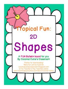Tropical Fun Decor {Shapes Bulletin Board}