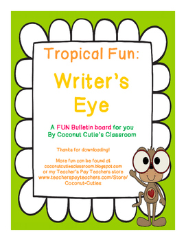"Tropical Fun Decor {""Writer's Eye"" Bulletin Board}"