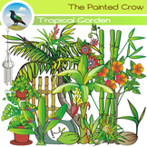 Tropical Garden Clip Art - Plants - Vegetation - Color & B