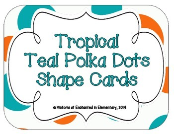 Tropical Teal Polka Dots Shape Cards