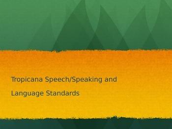 Tropicana Speech ppt for teachers