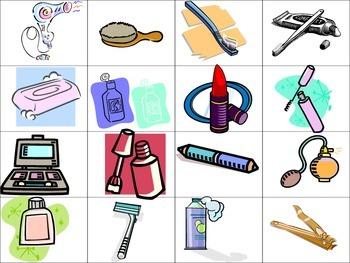 Trousse de toilette et verbes pronominaux- flashcards