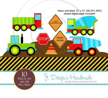 Truck Construction Commercial Use Clipart