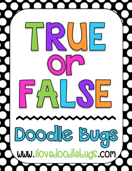 True & False - 7 Math Sets - math facts, time, tally marks