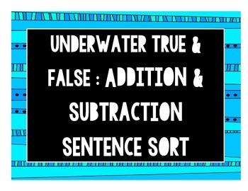 True & False Addition & Subtraction Bundle [CC Aligned]