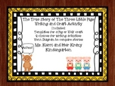 True Story of The Three Little Pigs Craft and Writing Activity