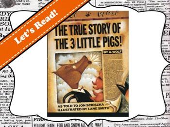 True Story of the 3 Little Pigs by Jon Scieszka Vocabulary