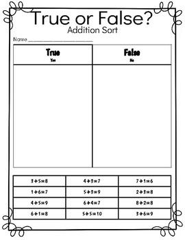 True and False addition sort