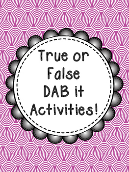 True or False? Addition and Subtraction Printables