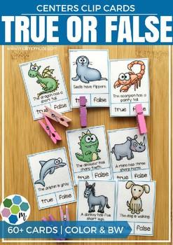 True or False Clip Cards