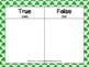 True or False Math Equations Challenge Task Cards (St. Pat