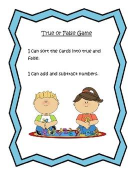True or False Math Game