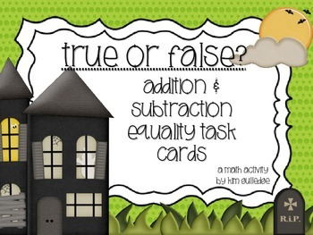 True or False? QR Code Fun: Addition & Subtraction Equalit