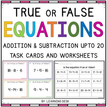 True or False Task Cards