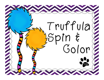 Truffula Spin & Color Math Pages