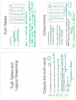 Truth Tables and Logical Reasoning Prezi and Notes Template