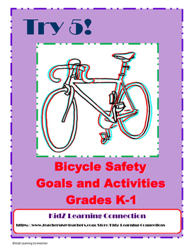 Bicycle Safety Math and Literacy K-1 Bundle