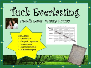 Tuck Everlasting Friendly Letter Writing Activity