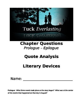 Tuck Everlasting Literature Circle Packet