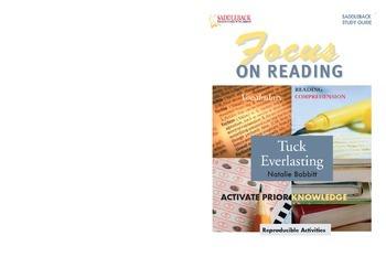 Tuck Everlasting Study Guide: Focus on Reading