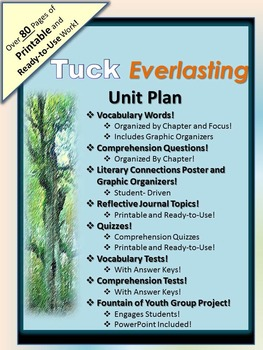 """A """"Tuck Everlasting"""" Comprehensive Unit- All You Could Ever Need!"""