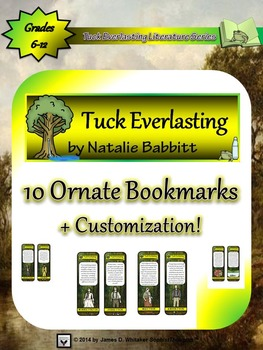 Tuck Everlasting by Natalie Babbitt Character Bookmarks