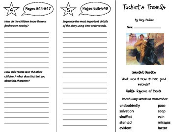 Tucket's Travels Trifold - Journeys 5th Grade Unit 5 Week